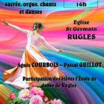 Les élèves de danse de l'ACR pour l'orgue de Rugles